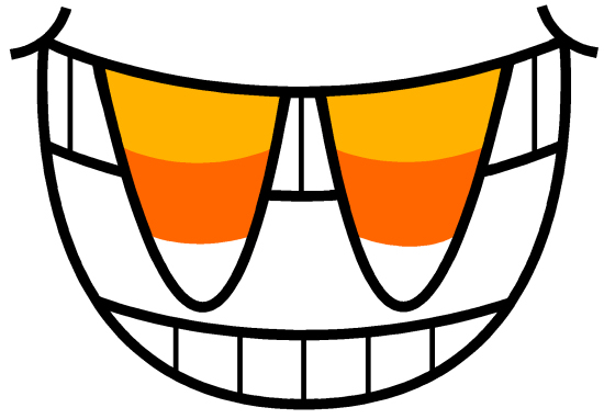 Candy Corn Fangs logo